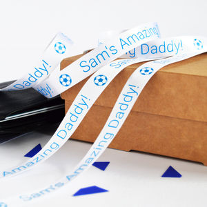 Father's Day 15mm Personalised Printed Ribbon