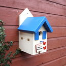 Personalised Handmade Bird House With Butterflies
