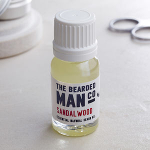 The Bearded Man Company Beard Oil 10ml - shaving