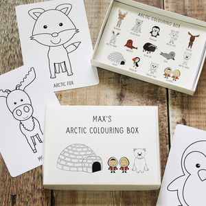 Arctic Colouring Box - stocking fillers