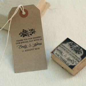 Rose Design Wedding Favour Stamp - stickers & stamps