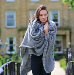 Diy Chunky Knit Kit Blanket Shawl Throw Shrug Poncho