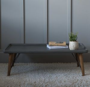 Retro Concrete Look Coffee Table - furniture
