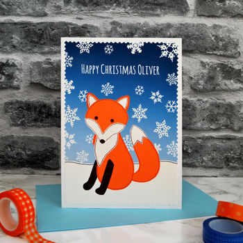 'Fox' Personalised Childrens Christmas Card