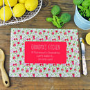 Personalised 'If Grandma Can't Bake It' Chopping Board
