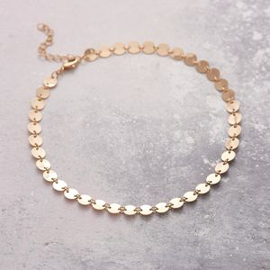 Stylish Mini Disc Choker Necklace - new season