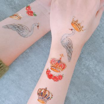 Swan Royal Wedding Temporary Tattoo