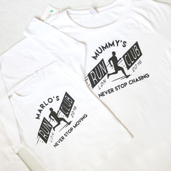 Run Club Matching Mum And Child T Shirt Set