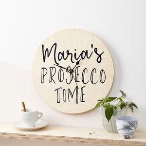 Personalised Drink Time Clock - living room