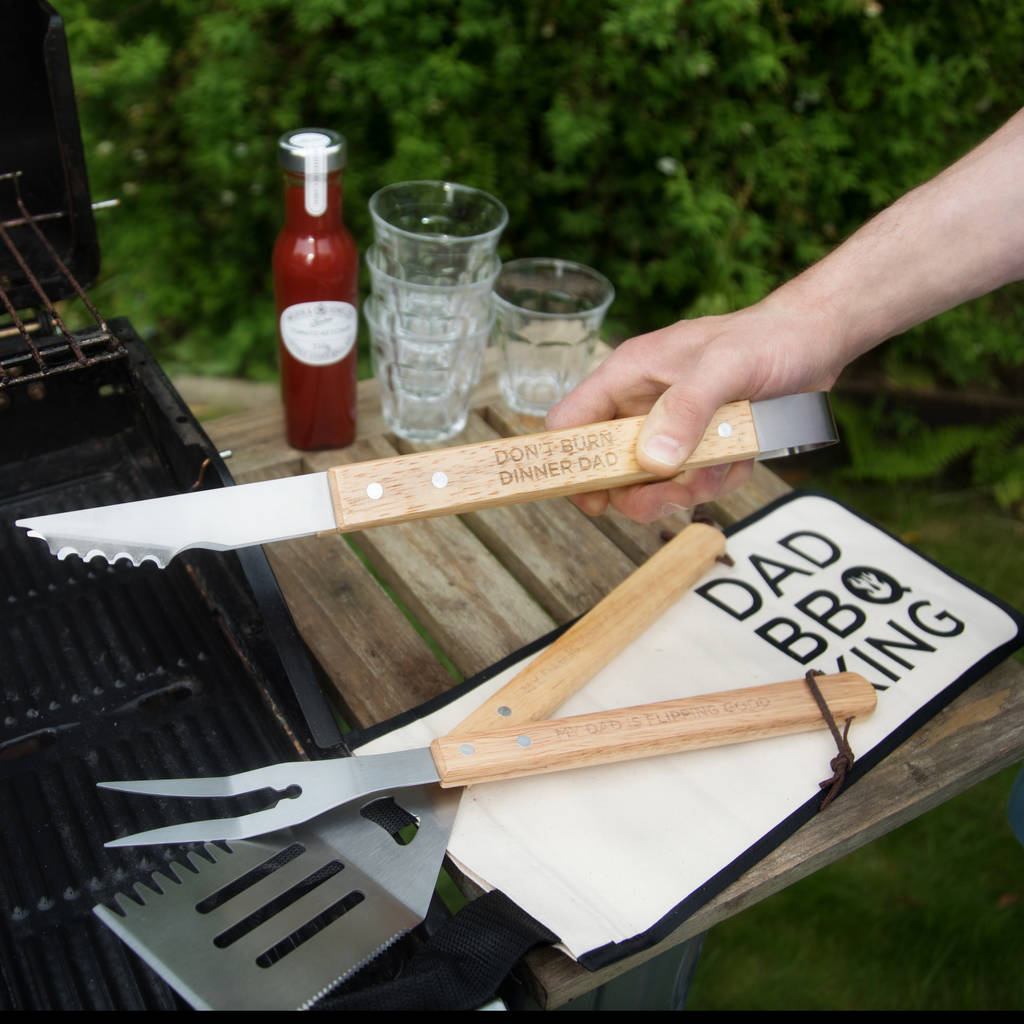 Personalised Bbq Tool Kit And Bag