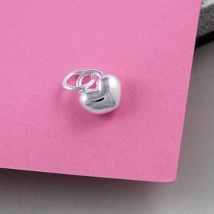Love Heart Solid Silver Charm - charm jewellery