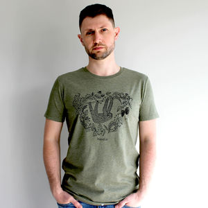 Organic Mens 'Sleepy Sloth' T Shirt