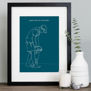 Personalised Father's Day Drawing In Archival Mount - drawings & illustrations