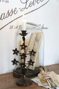 Star Flower Candle Holder - table decoration