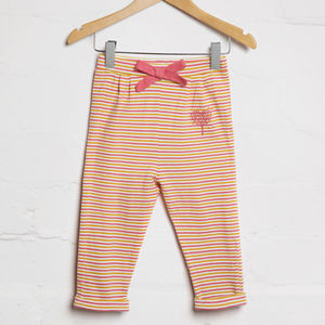 Autumn Stripe Bow Jogger - baby & child sale