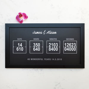 Personalised Days Hours Minutes Seconds Art - posters & prints