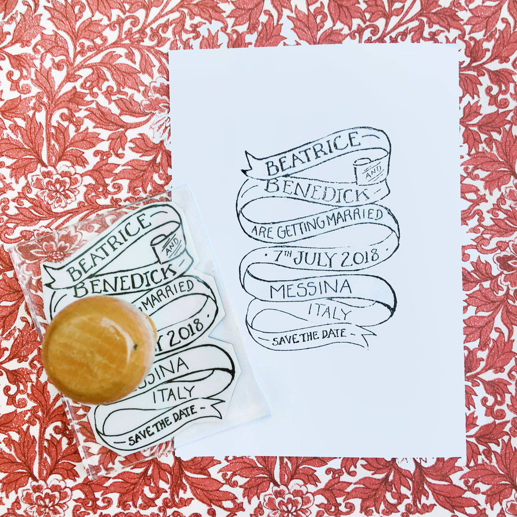 Personalised Much Ado Wedding Stamp By Bloomfield Rolfe