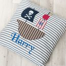 Personalised Pirate Ship Appliqued Cushion