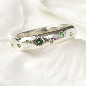 Handmade Diamond & Tsavorite Ring