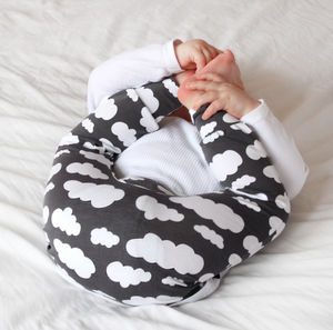 Unisex Grey Cloud Child And Baby Leggings