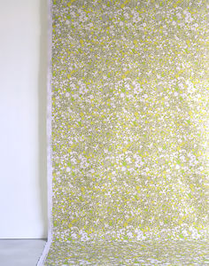 Meadow Fabric Lime - throws, blankets & fabric