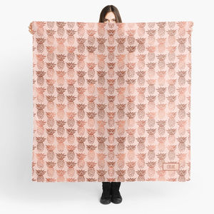 Copper And Blush Personalised Pineapple Scarf
