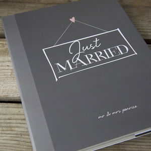 Wedding Guest Book With Personalised Cover