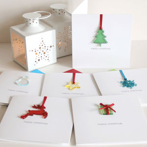 Pack Of Personalised Merry Christmas Cards