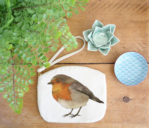 Robin Canvas Purse