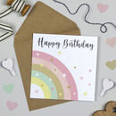 Over The Rainbow Birthday Card Pink