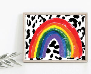 Rainbow Of Hope Art Print With Nhs Donation