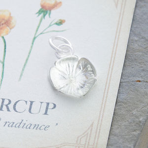 Buttercup Solid Silver Charm - charm jewellery