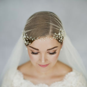Boho Flower Wedding Hairvine Coralie - bridal hairpieces