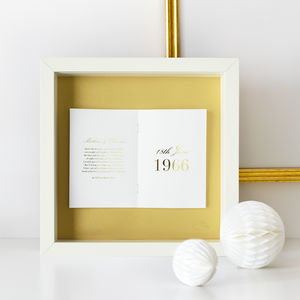 Gold Anniversary Personalised Frame - 50th anniversary: gold