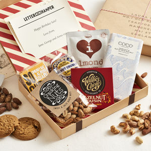Nuts And Chocolate Personalised Letter Box Hamper - gifts for fathers