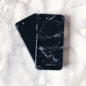 Black Marble iPhone Case - phone covers & cases