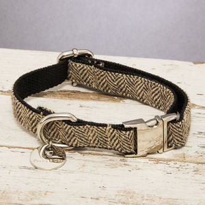The Beaufort Country Tweed Dog Collar - dog collars