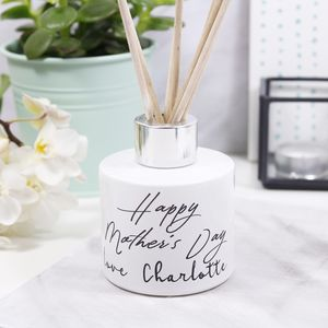 Personalised Typography Mother's Day Reed Diffuser - candles & home fragrance
