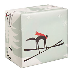 Alpine Retro Christmas Wrapping Paper - wrapping paper