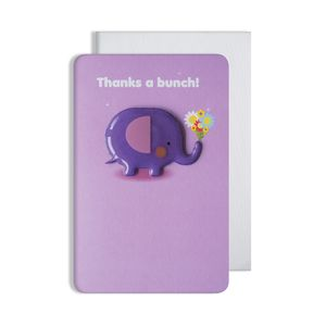 Thank You Elephant Magnet Card