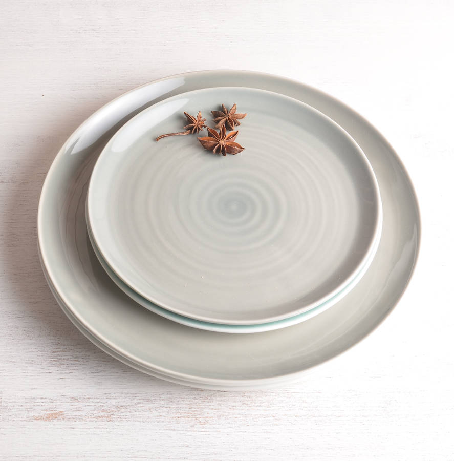 Grey plates  sc 1 st  Notonthehighstreet.com & tactile coloured porcelain plate by linda bloomfield ...