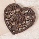 Personalised Iron Heart Floral Trivet Gift
