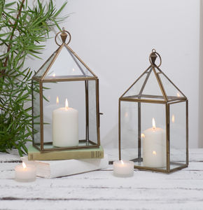 Brass Candle Lantern - room decorations