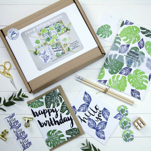 A Box Of Stationery Happiness Tropical Leaf - 21st birthday gifts