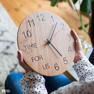 Personalised Oak Clock