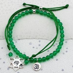 Selection Silver Yoga Ohm Bracelets