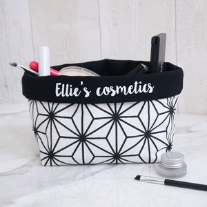 Personalised Monochrome Fabric Storage Caddy