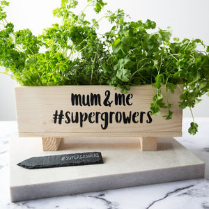 Mum And Me #Supergrowers Windowsill Planter