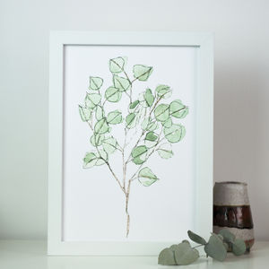 Eucalyptus Botanical Watercolour Art Print