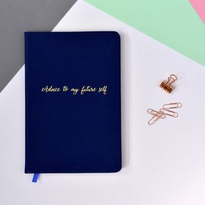 Personalised Advice To My Future Self Notebook